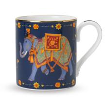 Ceremonial Indian Elephant Blue Mug | Gracious Style