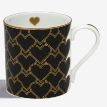 Heart Trellis Black Mug | Gracious Style