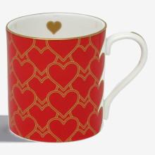 Heart Trellis Red Mug | Gracious Style
