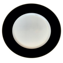 """Plain Black Gold 13"""" Charger Plate 