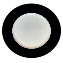 """Plain Midnight Platinum 13"""" Charger Plate 