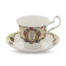 Vivat Regina Ivory Teacup & Saucer | Gracious Style