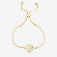 Agama Sparkle Beads Cream Gold 6mm Friendship Bangle | Gracious Style