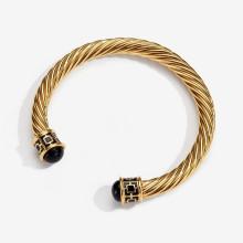 Maya Black Gold Torque Bangle | Gracious Style
