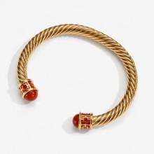 Maya Red Gold Torque Bangle | Gracious Style
