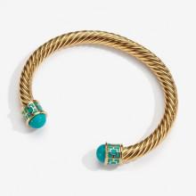 Maya Turquoise Gold Torque Bangle | Gracious Style