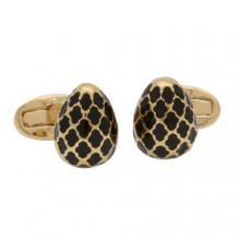 Agama Egg Black Gold Cufflinks | Gracious Style