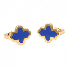 Single Agama Navy Gold Cufflinks | Gracious Style