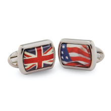 A Very Special Relationship Rectangular Hand Decorated Palladium Cufflinks | Gracious Style