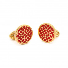 Rose Red Gold Cufflinks | Gracious Style