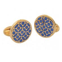 Rose Deep Cobalt Gold Cufflinks | Gracious Style