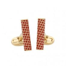 Salamander Single Tube Red Gold Cufflinks | Gracious Style