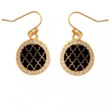 Agama Sparkle Black Gold Earrings | Gracious Style