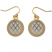 Agama Sparkle Cream Gold Earrings | Gracious Style