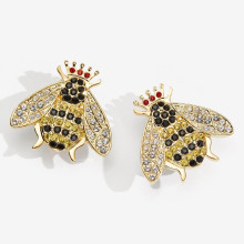 Sparkle Queen Bee Clip on Earrings | Gracious Style
