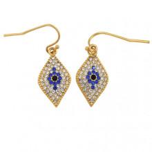 Evil Eye Pave Earrings | Gracious Style