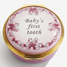 Baby's First Tooth Girl Enamel Box (Special Order) | Gracious Style