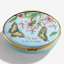 The Best is Yet to Come Floral Enamel Box (Special Order) | Gracious Style