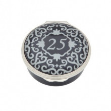 Classic Number 25 Blue Enamel Box (Special Order) | Gracious Style