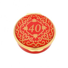 Classic Number 40 Red Enamel Box (Special Order) | Gracious Style