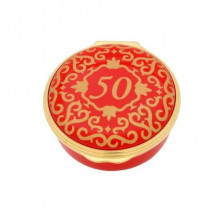 Classic Number 50 Red Enamel Box (Special Order) | Gracious Style