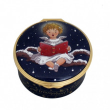 Christmas Musical Enamel Box Cherub Singing plays 'O Come, All Ye Faithful' (Special Order) | Gracious Style
