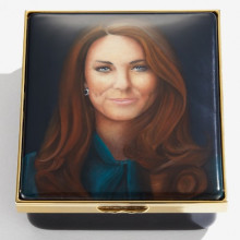 The Royal Family HRH The Prince of Wales by Susan Crawford Enamel Box (Special Order) | Gracious Style