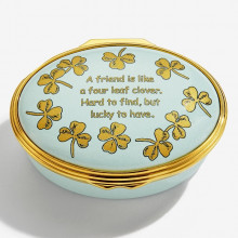 Four Leaf Clover Enamel Box (Special Order) | Gracious Style