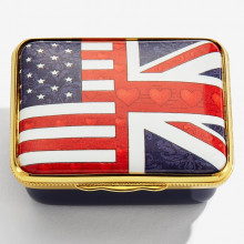 Iconic United States of America The Union Flag Enamel Box (Special Order) | Gracious Style