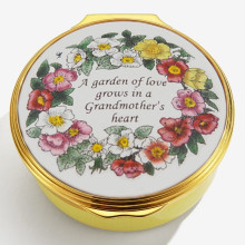A Garden of Love Grows in a Grandmother's Heart Enamel Box (Special Order) | Gracious Style