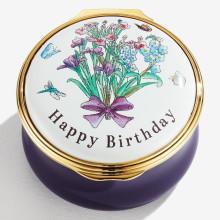 Happy Birthday Enamel Box (Special Order) | Gracious Style
