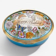 Happy Birthday Floral Enamel Box (Special Order) | Gracious Style