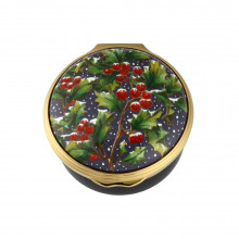 Holly in the Snow Christmas Enamel Box (Special Order) | Gracious Style
