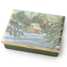 The Sanctuary by HRH The Prince of Wales Leather Lined Enamel Box LE100 (Special Order) | Gracious Style