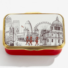 Iconic Great Britain The Royal Family HRH The Prince of Wales by Eileen Hogan Enamel Box (Special Order) | Gracious Style