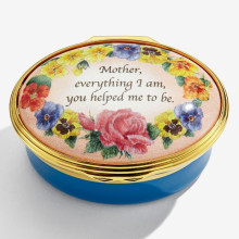 Mother everything I am, you helped me to be Enamel Box (Special Order) | Gracious Style
