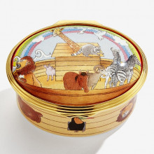 Noah's Ark All Aboard Enamel Box (Special Order) | Gracious Style