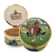 Musical Enamel Box Old MacDonald plays 'Old MacDonald Had a Farm'. (Special Order) | Gracious Style