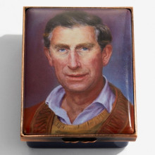HRH The Prince of Wales by Susan Crawford Enamel Box (Special Order) | Gracious Style