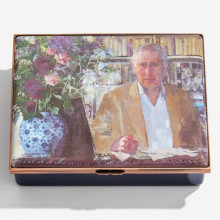 HRH The Prince of Wales by Eileen Hogan Enamel Box (Special Order) | Gracious Style