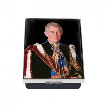 HRH The Prince of Wales by Stone Enamel Box (Special Order) | Gracious Style