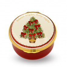 Christmas Musical Enamel Box Silent Night plays 'Silent Night' (Special Order) | Gracious Style