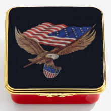 Iconic United States of America The Stars & Stripes Enamel Box (Special Order) | Gracious Style