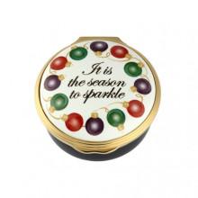 Season to Sparkle Christmas Enamel Box (Special Order) | Gracious Style
