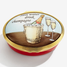 Save water, drink champagne Enamel Box (Special Order) | Gracious Style