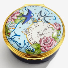 Time Flies, Friendship Stays Enamel Box (Special Order) | Gracious Style