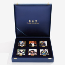 The Royal Family Enamel Box Set Leather Lined LE25 (Special Order) | Gracious Style