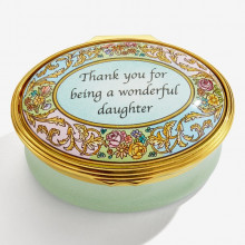 Thankyou for being a Wonderful Daughter Enamel Box (Special Order) | Gracious Style