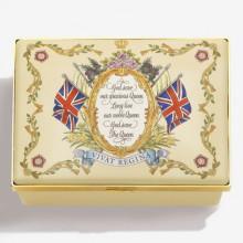 Her Majesty Queen Elizabeth II Vivat Regina Ivory Enamel Box (Special Order) | Gracious Style