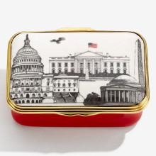 Iconic United States of America Telephone Box Bonbonniere | Gracious Style